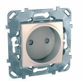 - Schneider Electric SE Unica Беж Розетка 1-ая б/з с защитными шторками винт. зажим (MGU5.033.25ZD)